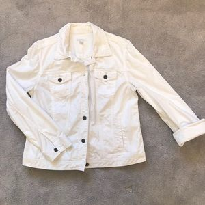 Charter club white denim jacket